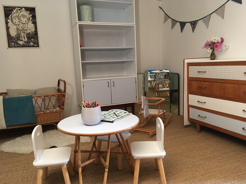 Une chambre bébé vintage