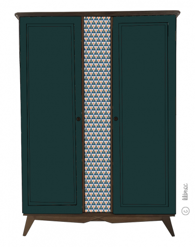 Armoire vintage Alice croquis 6