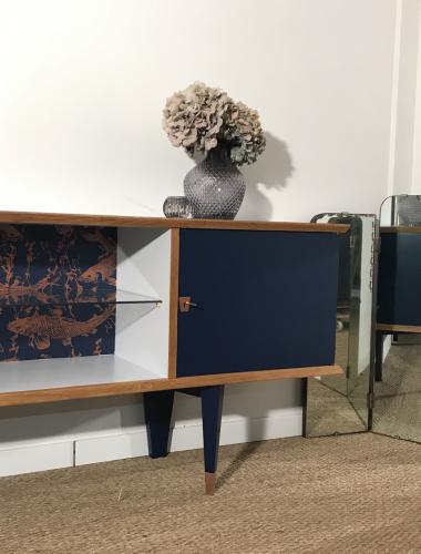 Meuble TV vintage Clovis 2