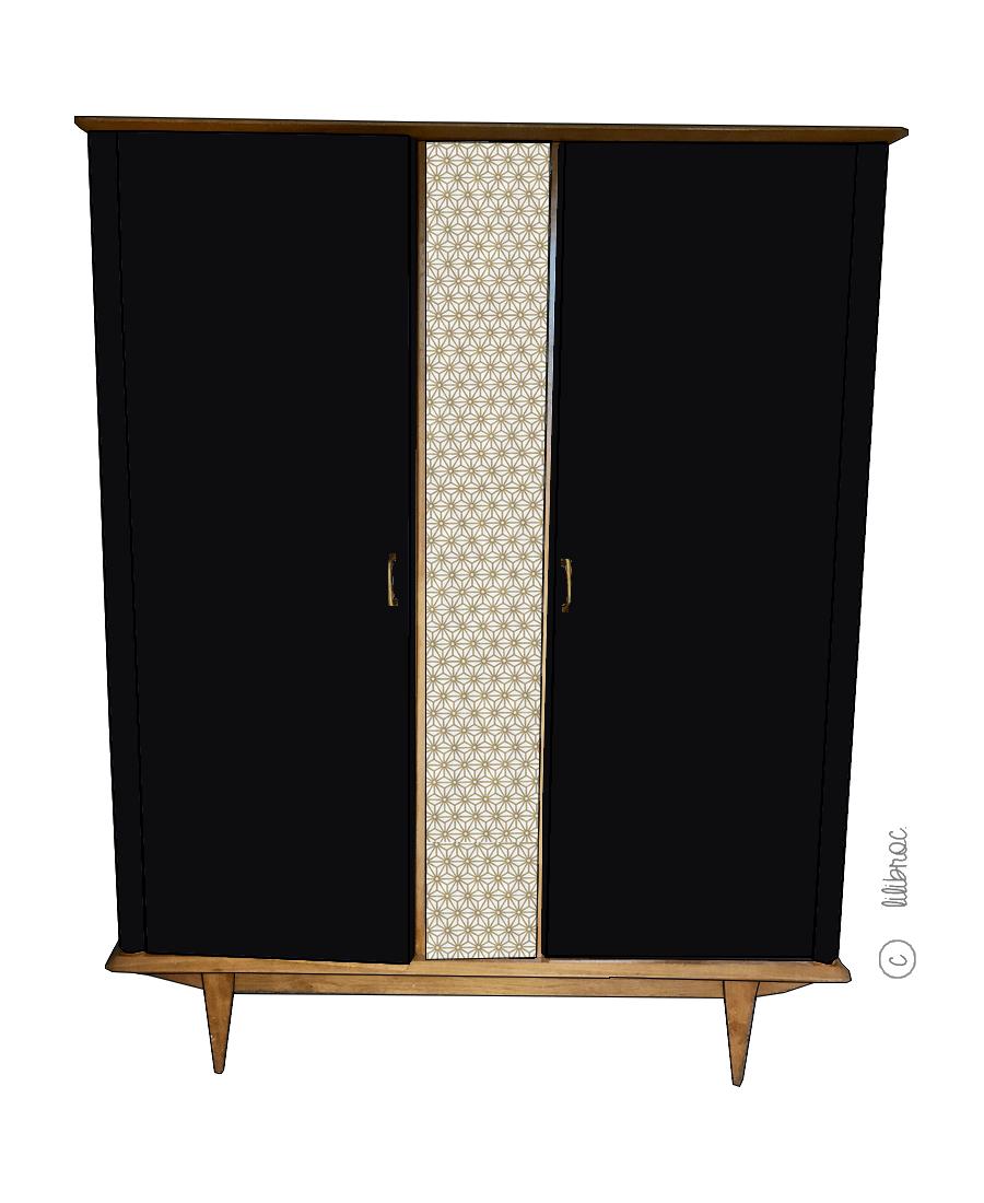 Armoire vintage Zilda – Croquis de relooking