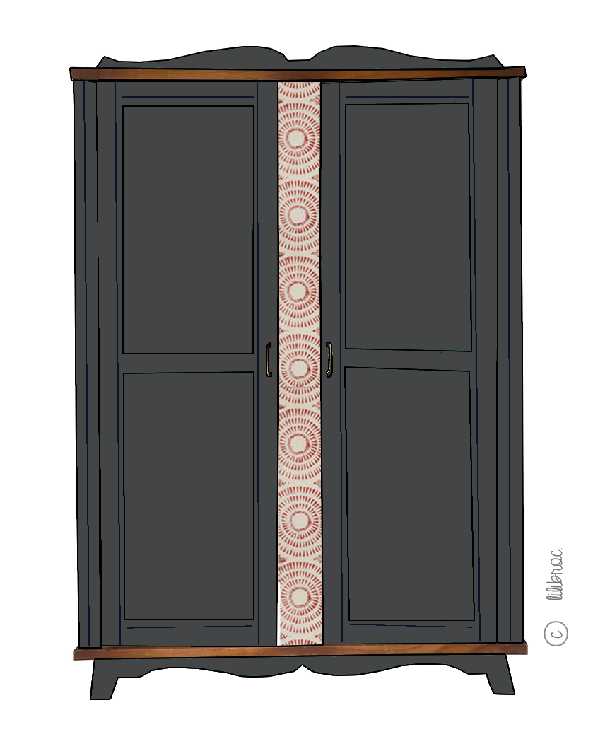 Armoire vintage Rafaëlle – Personnalisable
