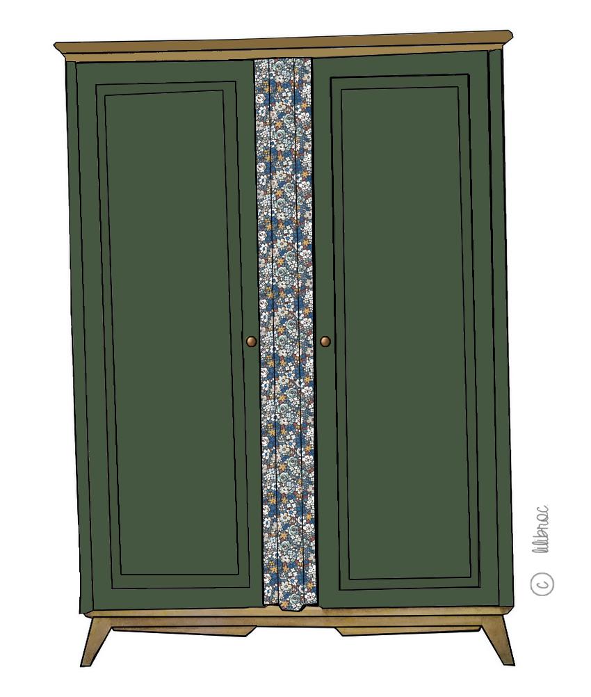 Armoire vintage Camille – Personnalisable