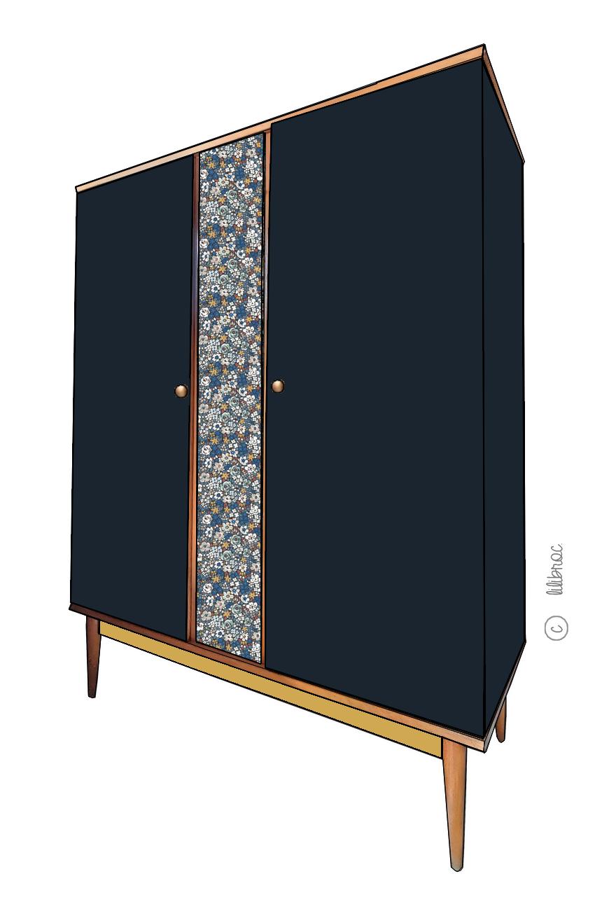 Armoire vintage Cassiopée – Personnalisable