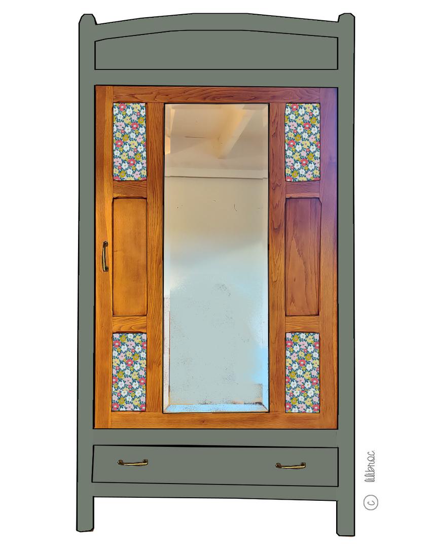 Armoire vintage Marguerite – personnalisable