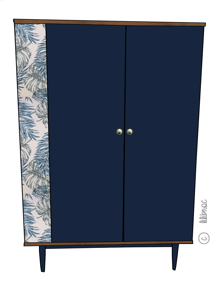 Armoire vintage Mathilda – personnalisable